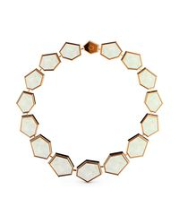 MARCELLO RICCIO - Metallic Rose Gold & Mother Of Pearl Bracelet - Lyst