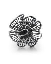 Fei Liu - Multicolor Cascade Large Ring In Black Rhodium Plate - Lyst