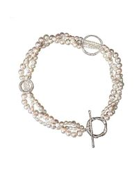 Erin Cox Jewellery - White Serendipity Plaited Pearl Necklace - Lyst