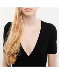 London Road Jewellery - Multicolor Burlington White Gold Graduated Pearl Pendant - Lyst