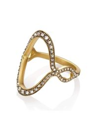 Anahita Jewelry - Metallic 18kt Yellow Gold Jaws Ring - Lyst