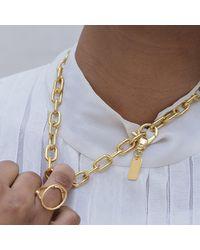 Glenda López - Metallic 18kt Gold Dipped Small Golden Links Necklace - Lyst