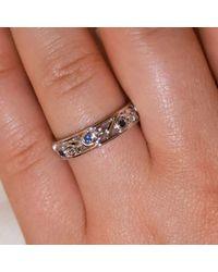 Custom Made By Irina - Multicolor Blue Sapphire Wedding Band - Lyst