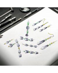 Regenz - Metallic Gold Onyx Suffragette Bracelet - Lyst