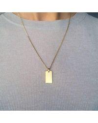 VERA VEGA - Metallic Signet Necklace - Lyst
