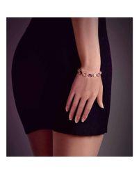 BCOUTURE - Multicolor Lime Quartz And Purple Amethyst Line Bracelet - Lyst