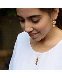 Michal Bendzel Friedman Jewelry Design - Multicolor Shitafon18kt Gold Sapphire Flower Shape Necklace - Lyst