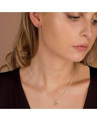 ANUKA - Metallic Mani Silver Half Faceted Charm Necklace - Lyst
