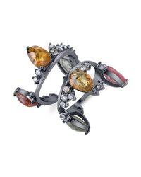 Bochic - Metallic Fancy Sapphire And Diamond Crown Ring - Lyst