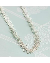 Juvi Designs - Metallic Antibes Coral Silver Necklace - Lyst