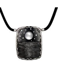 "Zoltan David | Black ""moonshine"" Necklace | Lyst"