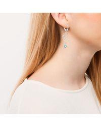 Purnell - Metallic Silver Long Nectar Drop Earrings - Lyst