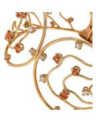 Botta Gioielli - Metallic Orange Sapphires And Diamonds Waves Bracelet - Lyst