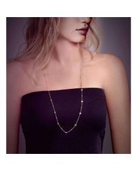 BCOUTURE - Multicolor White Topaz Long Necklace In White Gold - Lyst