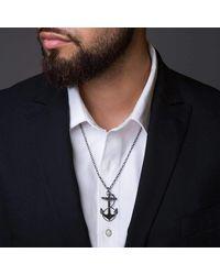 Black Matter - Multicolor Blackened Anchor Pendant for Men - Lyst