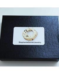 Stephanie Gorski Jewelry - Metallic Circle Stone Bangle - Lyst