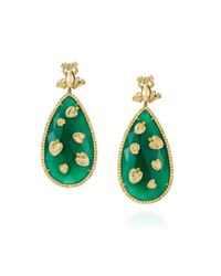 Maria Kovadi Fine Jewellery   Green Precious Pond Earrings   Lyst