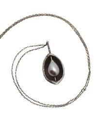 Lainey Papageorge Designs - Metallic Hickory Nutshell And Pearl Pendant - Lyst