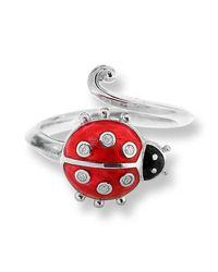 Nicole Barr - Metallic Silver Ladybug Ring - Lyst
