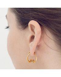 freeRange JEWELS - Metallic Rose Gold Queen Athena Earrings - Lyst