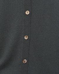 Jigsaw - Gray Button Back Drop Hem Jumper - Lyst