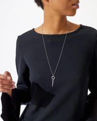 Jigsaw - Metallic Silver Pendant Necklace - Lyst