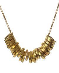 Jigsaw - Metallic Made Circle Statement Necklace - Lyst