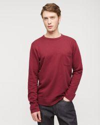 Jigsaw - Red Garment Dye Sweatshirt for Men - Lyst