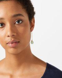 Jigsaw - Metallic Jade Stone Cylinder Earrings - Lyst