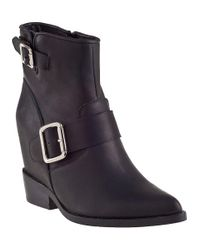 Jeffrey Campbell | Wenda Ankle Boot Black Leather | Lyst