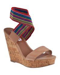 Steve Madden | Multicolor Roperr Wedge Sandal Bright Multi Fabric | Lyst