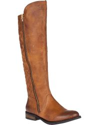 Steve Madden | Brown Northsde Tall Boot Cognac Leather | Lyst