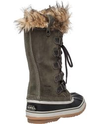 Sorel - Green Joan Of Arctic Suede And Rubber Boots - Lyst