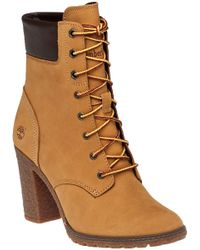 Timberland | Natural Glancy Wheat Suede Lace-up Boot | Lyst