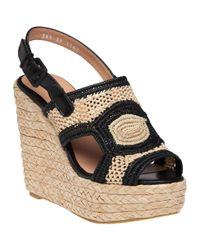 Robert Clergerie | Natural 'drastic' Wedge Sandals | Lyst