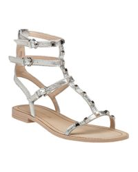 Rebecca Minkoff | White Georgina Gladiator Sandal Silver Leather | Lyst