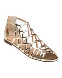 J/Slides   Alex Metallic Gold Sandal   Lyst