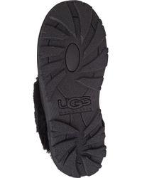 Ugg - Black Coquette Sheepskin Slippers - Lyst