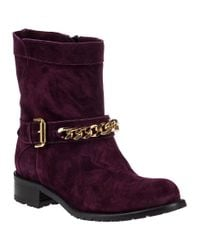 Sesto Meucci - Purple 1377 Biker Boot Wine Suede - Lyst