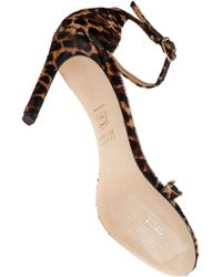 Stuart Weitzman - Multicolor Nudist Song Leopard-Print Calf Hiar Sandals - Lyst