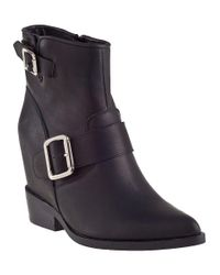 Jeffrey Campbell - Wenda Ankle Boot Black Leather - Lyst