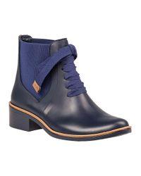 Bernardo - Blue Lacey Rubber Rain Boots - Lyst