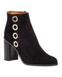 Chloé | Black Ch25203 Grommet Suede Boots | Lyst
