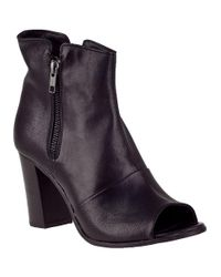 275 Central | Open Toe Ankle Boot Black Leather | Lyst