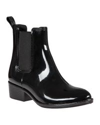 Jeffrey Campbell - Stormy Rain Boot Black Rubber - Lyst