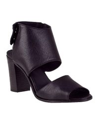 275 Central - Block Heel Sandal Black Leather - Lyst