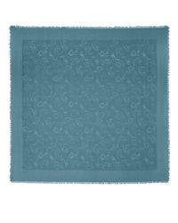 Jimmy Choo | H6s071480 Blue Medium Silk And Wool Scarf | Lyst