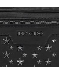 Jimmy Choo - Multicolor Derry Black Biker Leather Waist Bag With Gunmetal Stars for Men - Lyst
