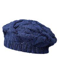 Joe Fresh - Blue Cable Knit Beret - Lyst