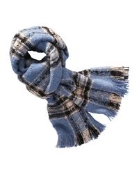 Joe Fresh - Blue Plaid Scarf - Lyst